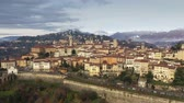 住居 : Picturesque aerial view of Bergamo and surrounding mountains, Italy