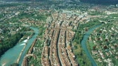overview : Aerial view of historic part of Bern in Switzerland