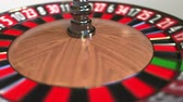 olasılık : Casino roulette wheel ball hits 30 thirty black. 3D animation