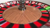 roleta : Casino roulette wheel ball hits 24 twenty-four black. 3D animation