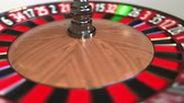 olasılık : Casino roulette wheel ball hits 30 thirty red. 3D animation