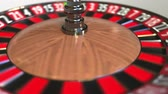 olasılık : Casino roulette wheel ball hits 27 twenty-seven red. 3D animation