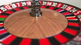 olasılık : Casino roulette wheel ball hits 15 fifteen black. 3D animation