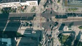 major : Aerial top down view of streets and buildings in Warsaw centre, Poland