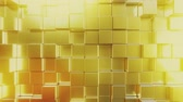 cubic : Gold bars. Loopable 3D animation Stock Footage