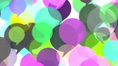 background color : Colorful transparent word bubbles or speech balloons rising up. Communication related loopable motion background