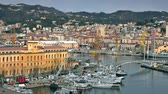 liguria : The city of La Spezia harbor and the naval base, Italy Stock Footage
