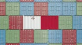 maltês : Container with flag of Malta. Maltese goods related conceptual 3D animation