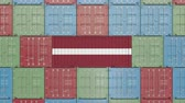 eksport : Container with flag of Latvia. Latvian goods related conceptual 3D animation