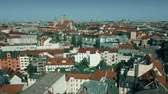 sloping : Aerial view of the centre of Munich, Germany