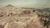 atina : Aerial view of the Parthenon temple on Acropolis of Athens in Greece