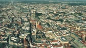 sloping : Aerial shot of Munich, the capital and most populous city of Bavaria, Germany