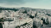 chovendo : Cityscape of Athens on a rainy day, Greece. Aerial view Stock Footage