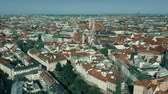 sloping : Aerial shot of Munich historic center, Germany Stock Footage