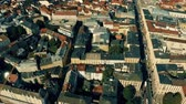 almanca : Aerial view of Maximilianstrasse, Munichs royal avenue. Bavaria, Germany