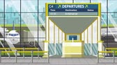 портал : Airport departure board with Antananarivo caption. Travel in Madagascar related loopable cartoon animation