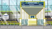 juan : Airport departure board with San juan caption. Travel in Puerto rico related loopable cartoon animation