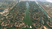 사치 : Aerial view of Jumeirah Islands community. Dubai, UAE