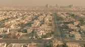 obydlí : Aerial view of residential area street traffic in Dubai in the evening, UAE