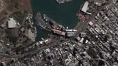 planeten : Port Louis Mauritius seen from space to street level