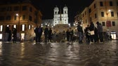 architektonický : Rome Trinit? dei Monti church, spanish steps and realism video in the early morning