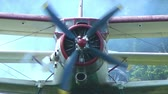 letectví : AN-2 aircraft stands at the airport before takeoff and the engine warms
