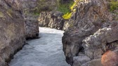 мощность : HD video of a powerful river in Iceland. HDR, HD video