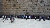 Jews pray near the Western Wall in Jerusalem, Israel Wideo