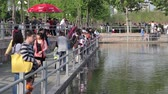 Shanghai City Park Stock Footage