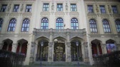 ethnology : Beautiful facade of Museum Five Continents in Munich, Germany, tourism