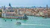 exciting : Venice cityscape with Salute Basilica across channel, sightseeing tour, travel