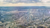 fascinante : Paris from above, divine summer sunshine illuminating city buildings, timelapse Stock Footage