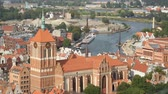 sacral : Gdansk aerial cityscape, gothic architecture of medieval Saint Johns Church