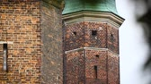 надежность : High brick wall of medieval fortress, ancient fortification for city protection