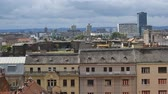 santuário : Panorama of amazing historical building of Zagreb from the top, view on roofs
