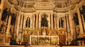 cúpulas : Panoramic view on Royal Chapel of Treasure of San Januarius with marble statue