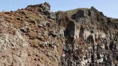 geológico : Volcanic rocks of Vesuvius Italy covered in moss and scarce vegetation, sequence Stock Footage