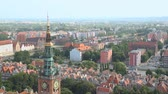 campanário : Stunning view from the top on central Gdansk and Main City Hall, architecture