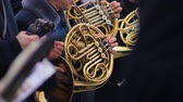 dallam : Military brass band performing dress rehearsal for upcoming festive concert