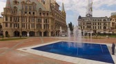 bilinen : Fountain jetting water streams on Europe Square in Batumi Georgia, landmark