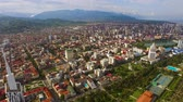 konaklama : Densely built-up modern city with green area in summer, Batumi Georgia, aerial