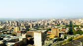 dormitory : City panorama with high-rise buildings and central street in Yerevan, Armenia Stock Footage