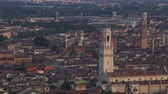 efsanevi : Old cathedrals with towers in historical downtown of Verona city, panorama