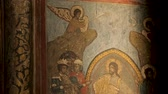 фреска : Ancient religious decorative details, icons monastery, church painting, fresco