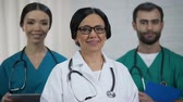 politika : Friendly medical team, specialized doctor and nursing staff emergency department