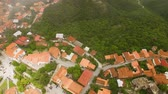main street : Fantastic view of rooftops in Signagi town and Alazani valley, ecotourism