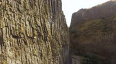 basalto : Huge Garni Gorge with basalt columns, tourist attraction in Armenia, nature