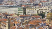 Old city of Nice, rooftop panoramic view of buildings and churches, travel Wideo