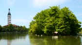 miasto : Ardagani lake in Batumi surrounded by lush plants, piece of nature in big city