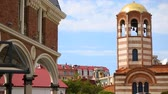 batumi : Tourists viewing old Greek St Nicholas Church in Batumi center, sightseeing tour